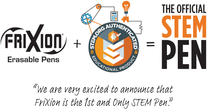 I am very excited to announce that FriXion is the 1st and only STEM Pen